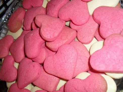pembe kalpli kurabiye