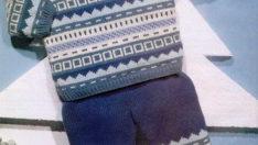 Desenli Bluz Pantolon Takımı