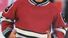 Kırmızı Erkek Çocuk Bluzu