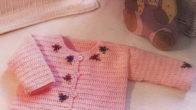 Pembe Kız Bebek Hırkası